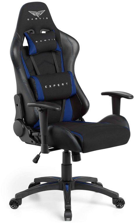 Gamvis EXPERT Textil Gamer Szék – Fekete/Kék