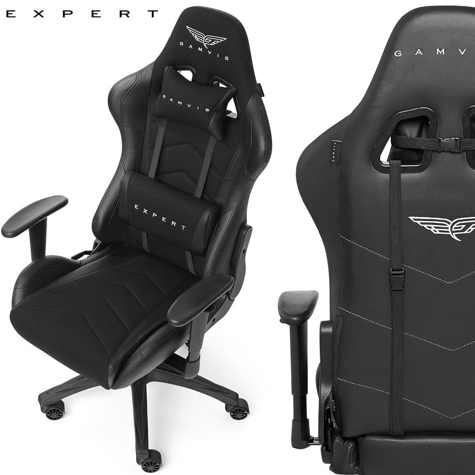 Materiałowy Fotel gamingowy Gamvis Expert Czarny 1