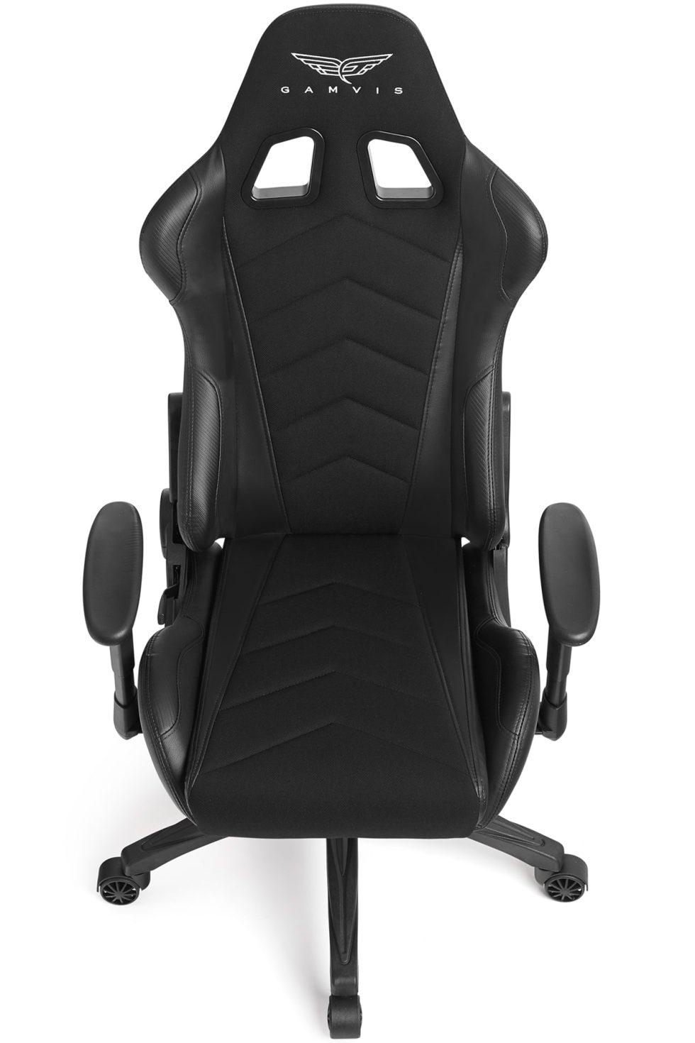 Materiałowy Fotel gamingowy Gamvis Expert Czarny 5