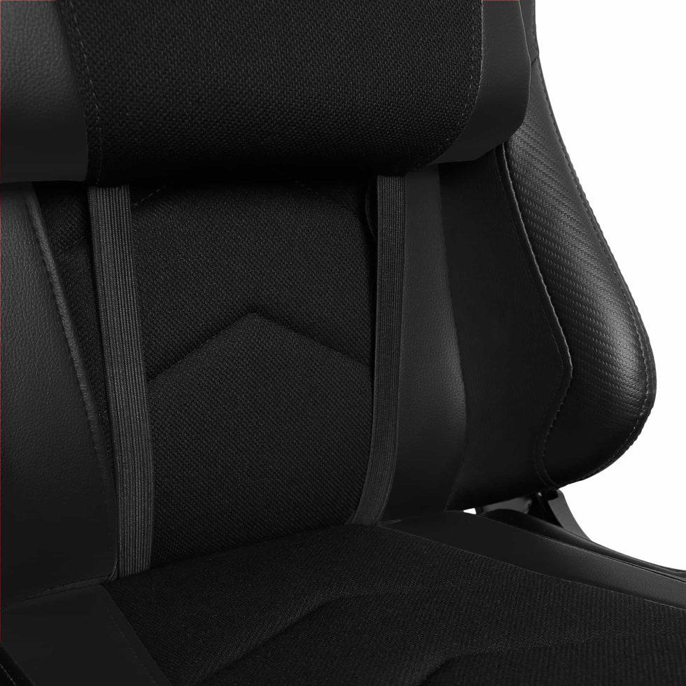 Materiałowy Fotel gamingowy Gamvis Expert Czarny 4