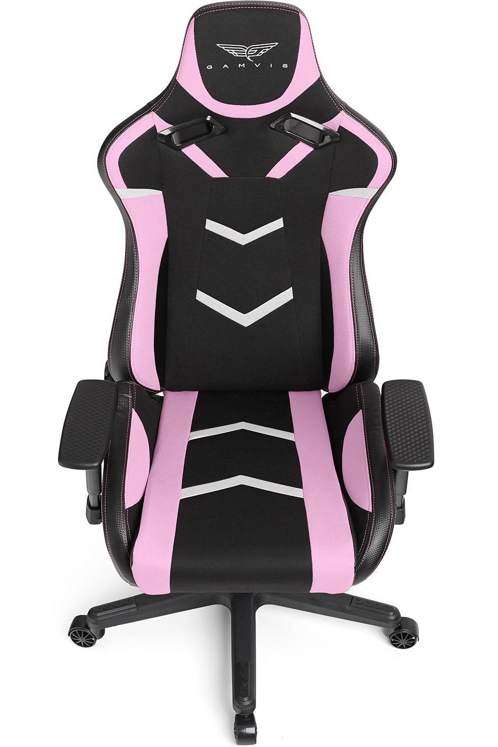 Materiałowy Fotel gamingowy Gamvis Furioso Różowy 9