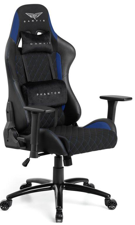 Gamvis PHANTOM Textil Gamer Szék – Fekete/Kék