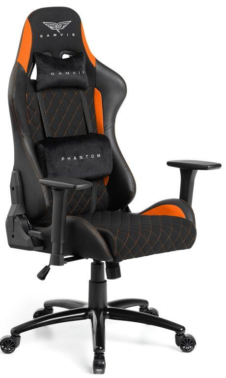 Gamvis PHANTOM Textil Gamer Szék – Fekete/Narancs