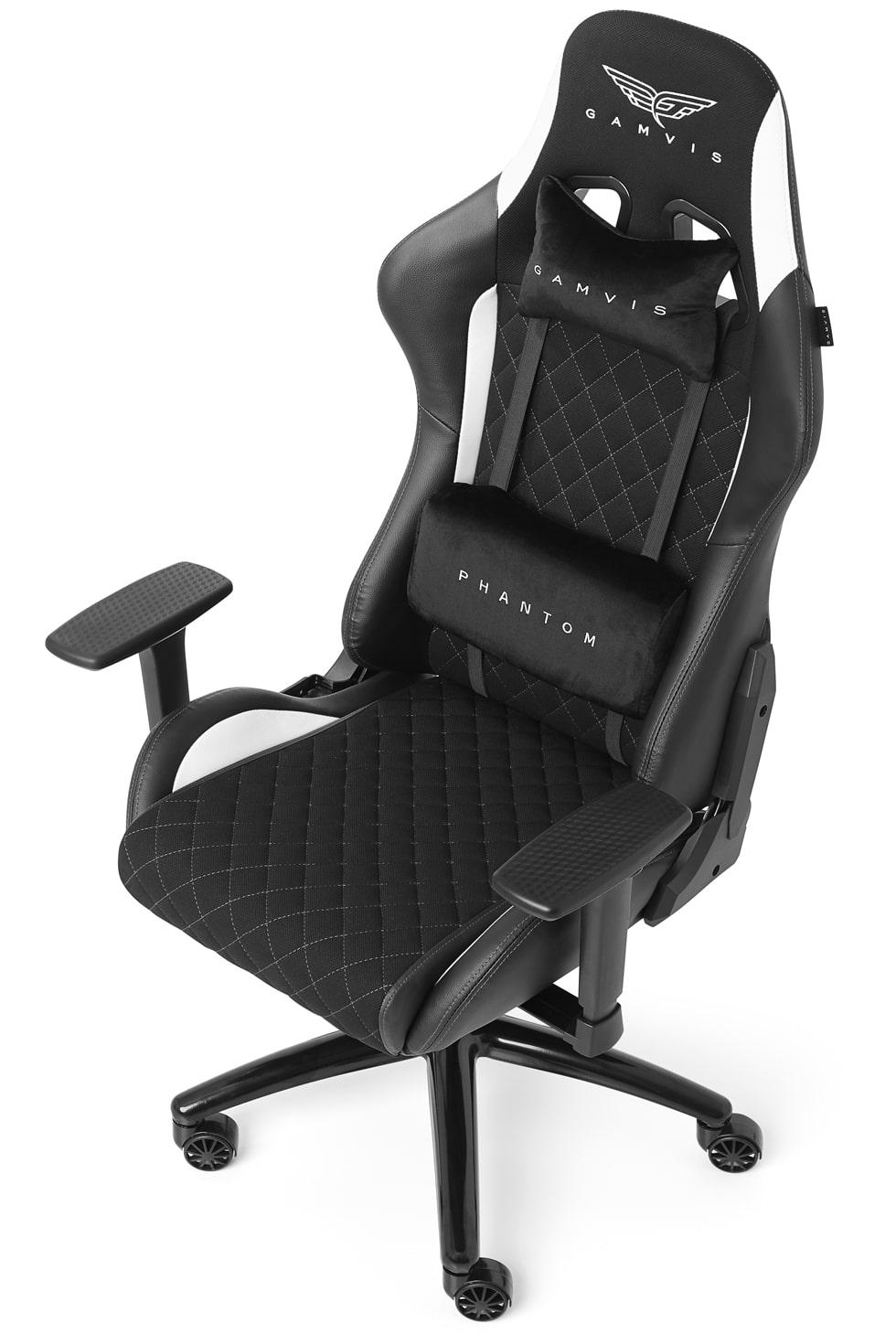 Materiałowy Fotel gamingowy Gamvis Phantom Biały