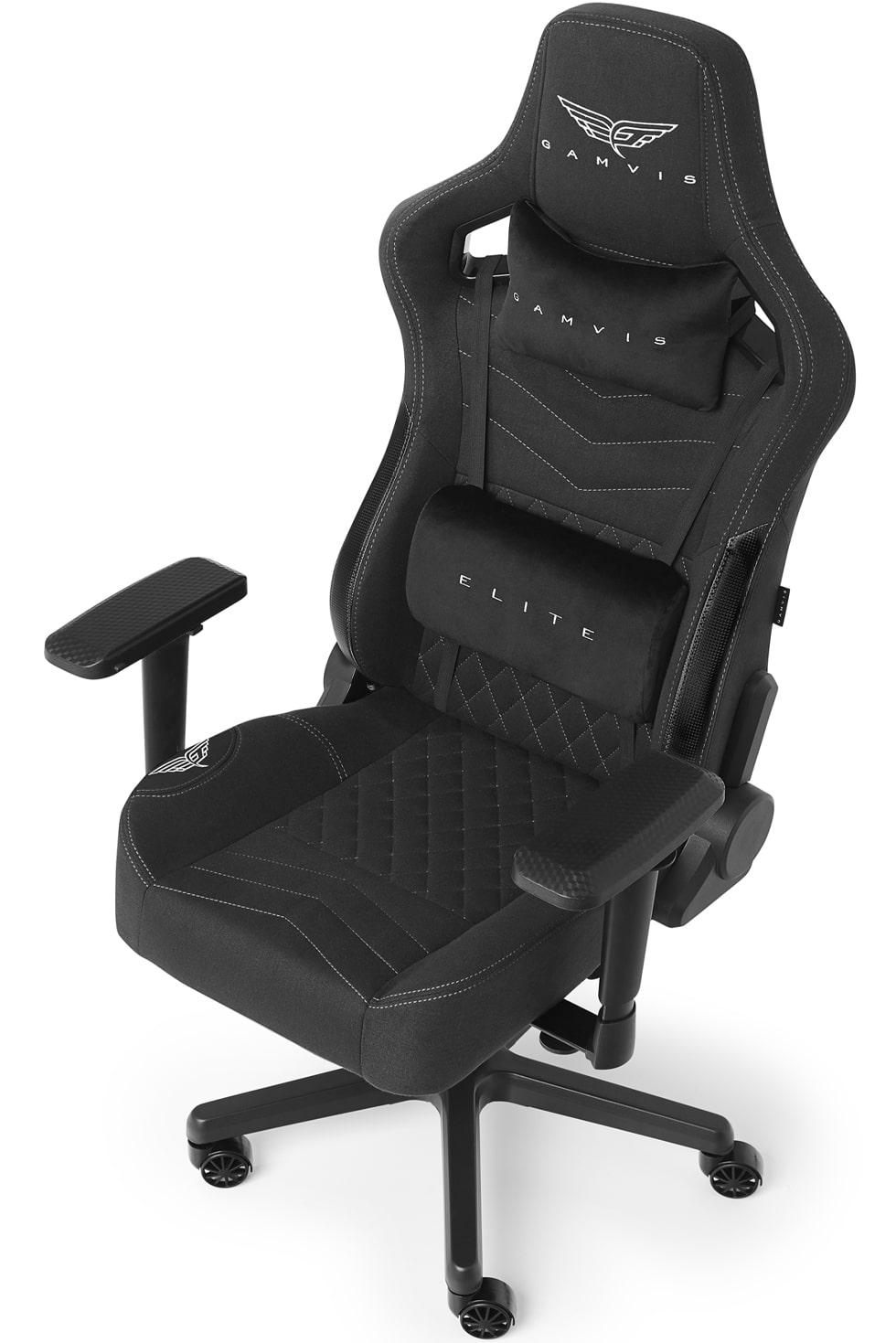 Materiałowy Fotel gamingowy Gamvis Elite Czarny