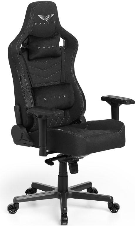 Gamvis ELITE 2.0 XL Textil Gamer Szék – Fekete/Diamond White