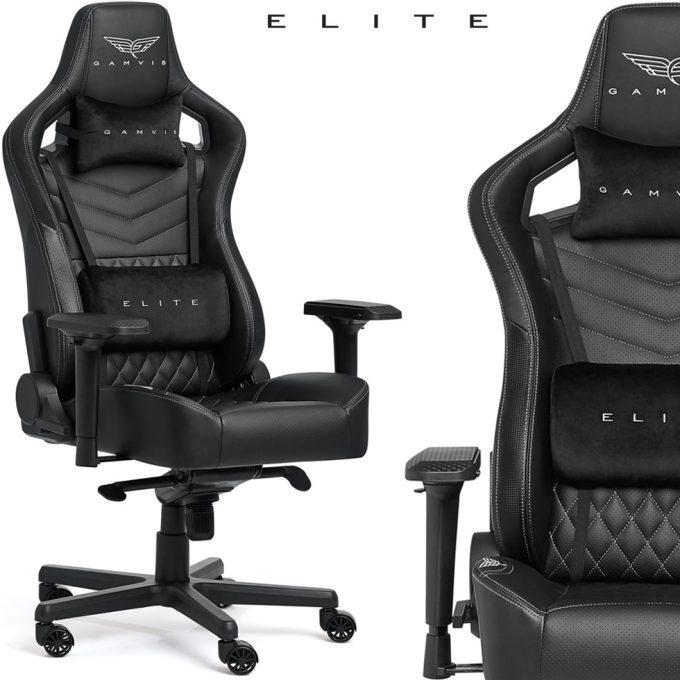 Gamvis ELITE 2.0 XL Gamer Szék Steppelt – Fekete