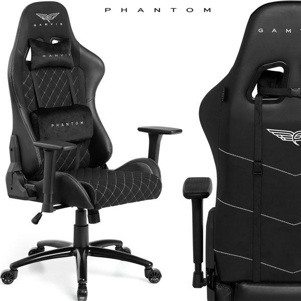 Gamvis PHANTOM Textil Gamer Szék – Fekete